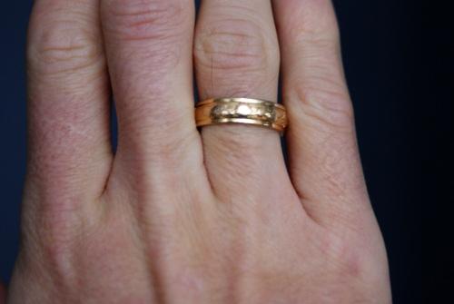 Ringen på mitt högra ringfinger